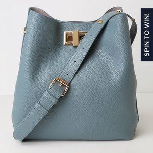 NWT Lulus denim blue tote purse